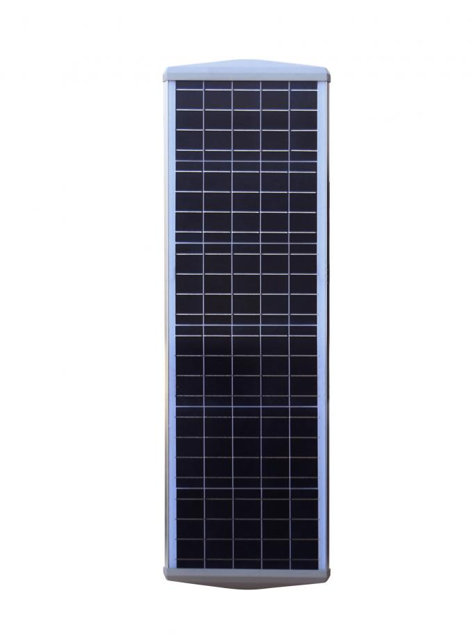 224WH Time Control Solar Street Light With Lithium Ion Battery 4400lm - 4800lm