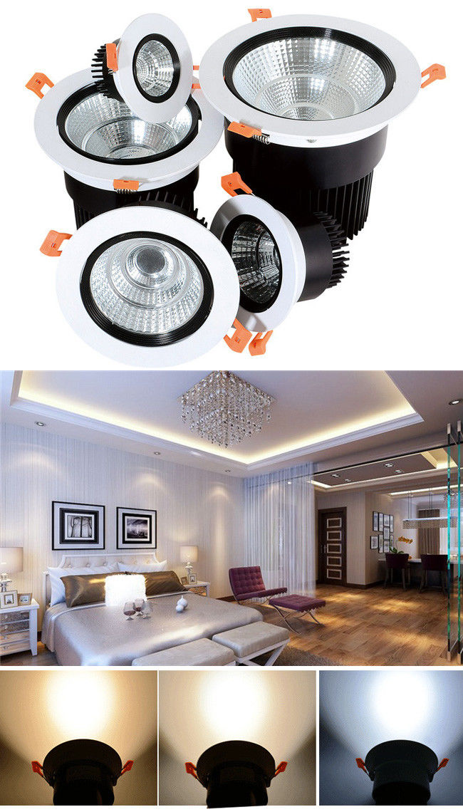 Embedded Ceiling LED Down Light With Reflector 24 Degree / 38 Degree / 60 Degree